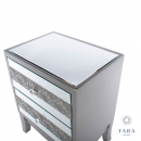Jade 2 Drawer Mirrored Side Table