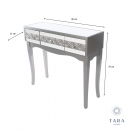 Jade 3 Drawer Mirrored Glass Console Table