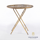 Amira Gold Oval Tray Table