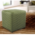 Quilted Cube Footstool