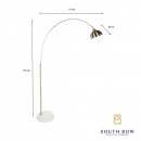 Gold Globe Overhanging Floor Lamp 170cm