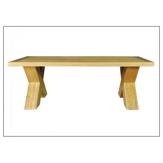 Castle Oak 1.9m X Leg Dining Table