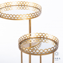 Ridgley Set of 2 Mirrored Accent Tables Gold