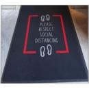 Social Distancing Floor Mat Rectangular Markings