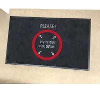 Social Distancing Floor Mat Circle Marking
