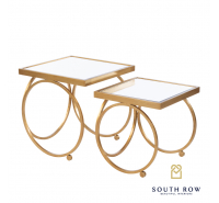 Winston Set of 2 Nesting Tables - Gold