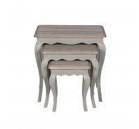 Sofia Hardwick Painted Set of 3 Nesting Tables