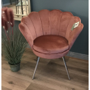 Shell Chair - Coral Pink with Chrome Leg