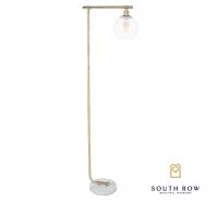 Globe Floor Lamp Marble & Gold 152cm