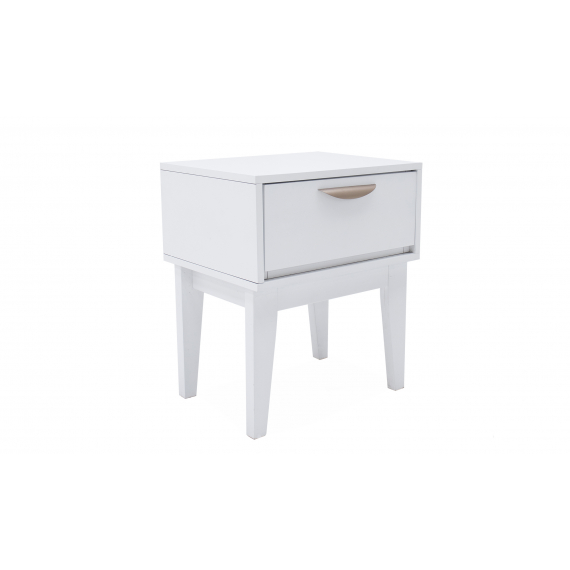 Moonlight White 1 Drawer Bedside Table