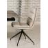 Bentley Swivel Chair - Black Powder Coated Leg