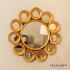 Harriet 12 Circles Gold Mirror