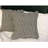 Franklin Aztec Charcoal Grey Print Cushion with Piping