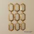 Amira 9 Section Hexagon Accent Mirror - Gold