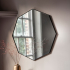 Black Frame Octagon Mirror