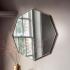 Silver Frame Octagon Mirror