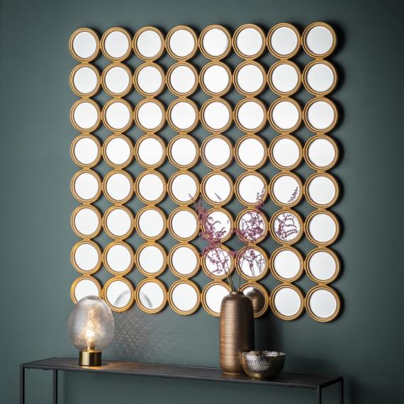 Carrington Large Circle Mirror Art