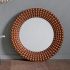 Large Bronze Beaded Wall Mirror 91cm
