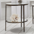 Aged Bronze Two Tier Side Table