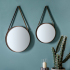 Leather Hanging Strap Set of 2 Mirrors