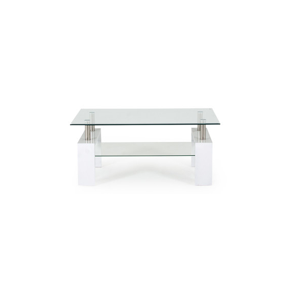 Calico White & Glass Coffee Table