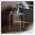 Silver & Dark Grey Side Table