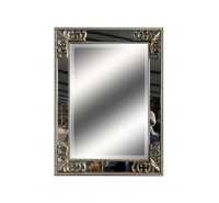 Silver Mirror with Floral Corner Detail