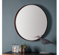 Greystoke Aged Bronze Round Wall Mirror 84cm