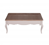 Sofia 4ft Square Coffee Table with Drawer – Oak Antique White