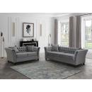 Karin Grey Velvet 2 Seater Sofa