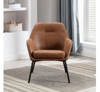 Demure Saddle Brown Accent Chair