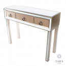 Hayden 3 Drawer Mirrored Console Table