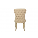 Herringbone Button Back Beige Fabric Dining Chair