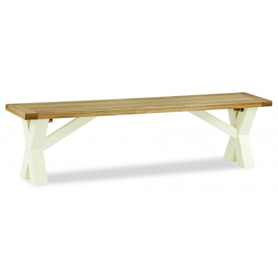 Cream Solid Oak bench