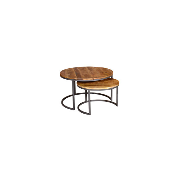 Industrial Set of 2 Nesting Coffee Tables