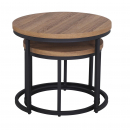 Latitude Round Nest of 2 Tables - Oak
