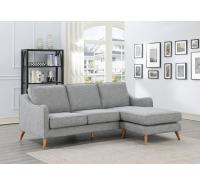Felix Grey Fabric Corner Chaise