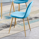 Bronx Dining Chair with Wooden Leg