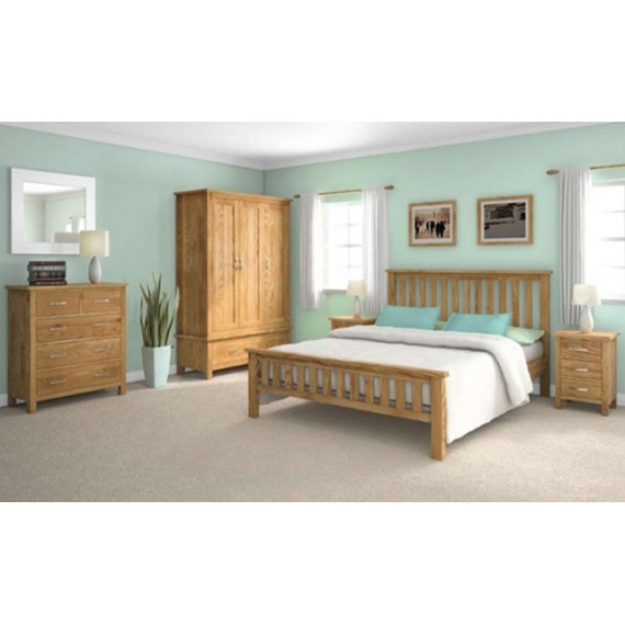 Trinity Oak Double Bed Frame